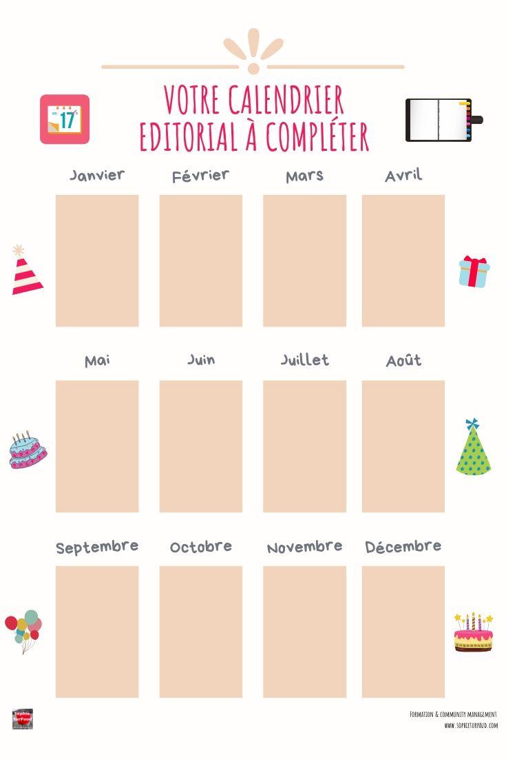 Votre calendrier éditorial à compléter via @sophieturpaud