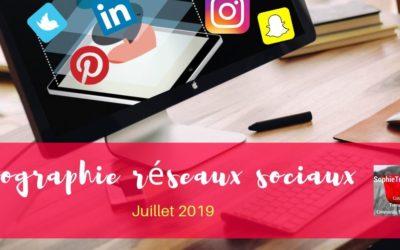 Infographie les chiffres des réseaux sociaux mise à jour Juillet 2019