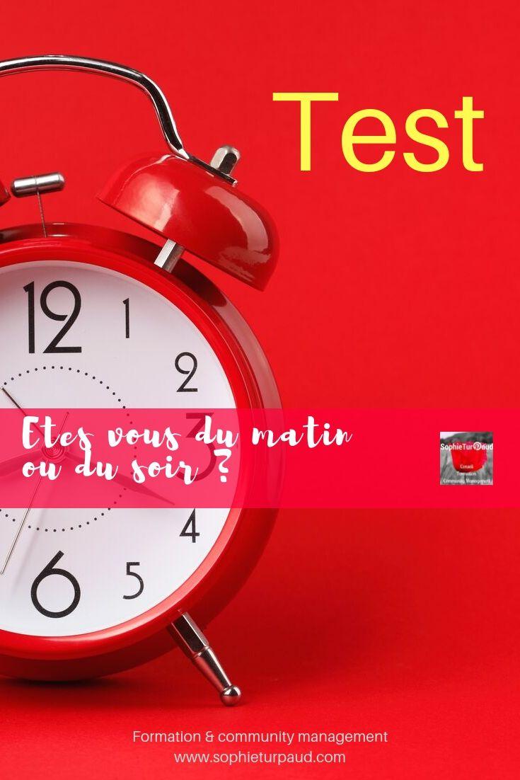 Etes vous du matin ou du soir ? à vérifier avec ce test via @sophieturpaud #entrepreneur #bienetre #qvt