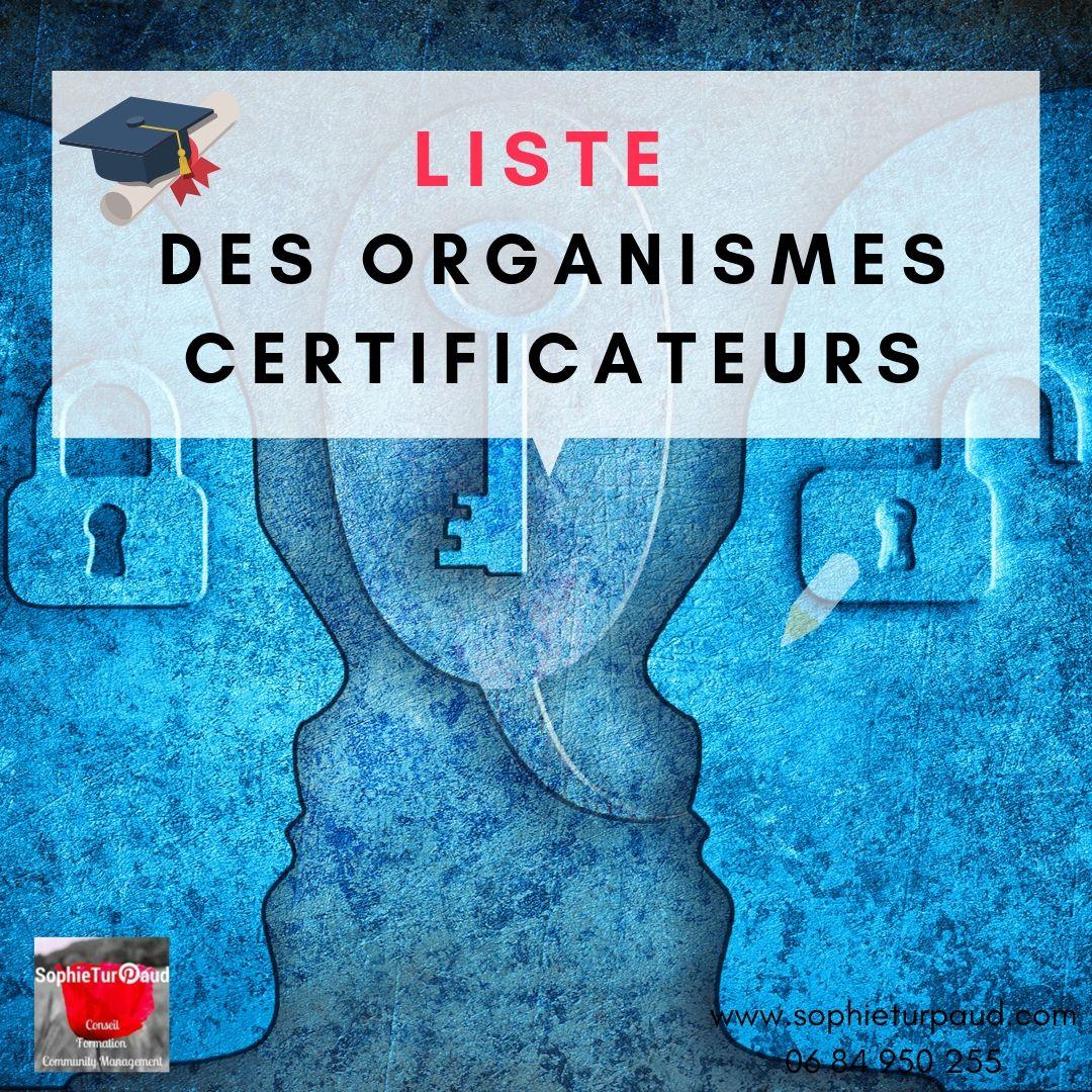 Réforme de la formation : Liste des organismes certificateurs via @sophieturpaud #formpro