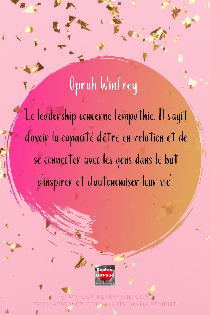 Citation Oprah Winfrey via @sophieturpaud #Leadership