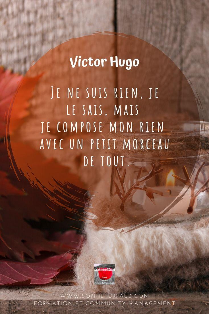 #Citation Victor Hugo, Je ne suis rien, je le sais via @sophieturpaud