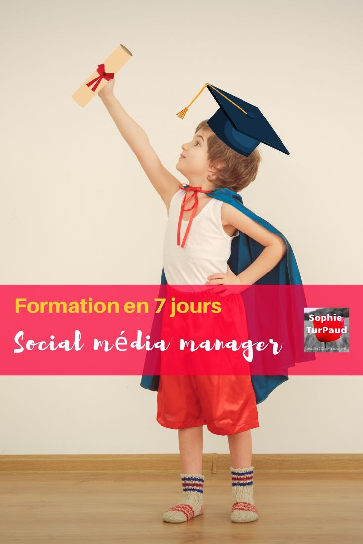 Formation Social média manager en 7 jours via @sophieturpaud #SocialMedia #CM
