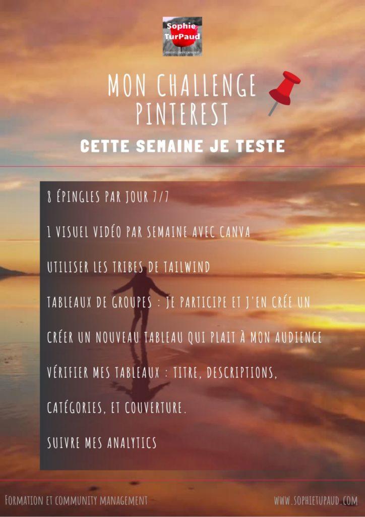 Mon Challenge Pinterest via @sophieturpaud #PinterestMarketing