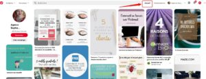 Smart feed ou page d'accueil Pinterest